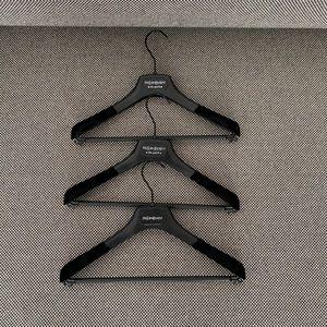 THREE Authentic YSL Yves Saint Laurent hangers